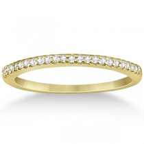 Modern Semi-Eternity Diamond Wedding Band 18k Yellow Gold (0.17ct)