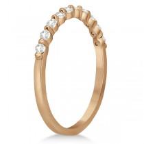 Elegant Diamond Semi-Eternity Wedding Band 14k Rose Gold (0.20ct)