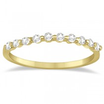 Elegant Diamond Semi-Eternity Wedding Band 14k Yellow Gold (0.20ct)