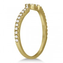 Bridal Contour Diamond Wedding Band 18k Yellow Gold (0.21ct)