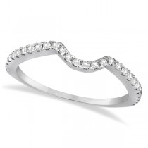 Bridal Contour Diamond Wedding Band Palladium (0.21ct)