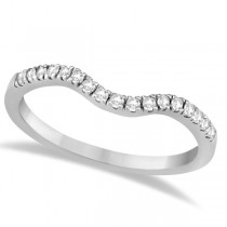 Pave Contoured Diamond Wedding Band 14K White Gold (0.17ct)