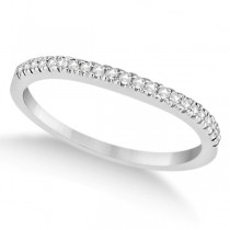 Modern Half-Eternity Diamond Engagement Ring 14k  White Gold (0.17ct)