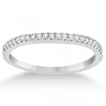 Modern Half-Eternity Diamond Engagement Ring 18k White Gold (0.17ct)