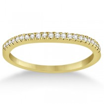 Modern Half-Eternity Diamond Engagement Ring 18k Yellow Gold (0.17ct)