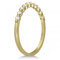 Halo Diamond Engagement Ring & Wedding Band 18K Yellow Gold (0.56ct)