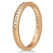 Semi-Eternity Diamond Wedding Ring 14k Rose Gold (0.21ct)