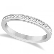 Semi-Eternity Diamond Wedding Ring 14k White Gold (0.21ct)