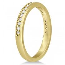 Semi-Eternity Diamond Wedding Ring 18k Yellow Gold (0.21ct)