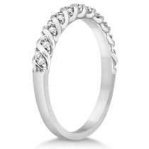 Diamond Rope Wedding Band in 14k White Gold (0.17ct)|escape