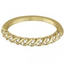 Diamond Rope Wedding Band in 14k Yellow Gold (0.17ct)
