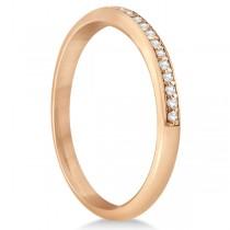 Half-Eternity Diamond Pave Wedding Band 14k Rose Gold (0.18ct)