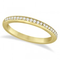 Half-Eternity Diamond Pave Wedding Band 18k Yellow Gold (0.18ct)