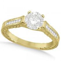 Princess Channel Set Diamond Engagement Ring 18k Yellow Gold (0.17ct)