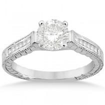 Princess Channel Set Diamond Engagement Ring Palladium (0.17ct)