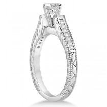 Princess Cut Channel Diamond Bridal Set in 18k White Gold (0.38ct)