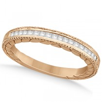Princess Cut Channel Diamond Wedding Band in 14k Rose Gold (0.21ct)