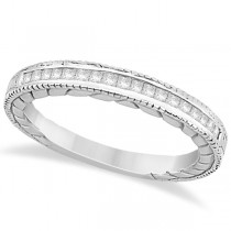 Princess Cut Channel Diamond Wedding Band in 14k White Gold (0.21ct)