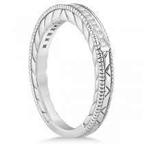Princess Cut Channel Diamond Wedding Band in 18k White Gold (0.21ct)