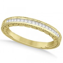 Princess Cut Channel Diamond Wedding Band in 18k Yellow Gold (0.21ct)