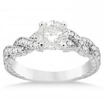 Diamond Braided Bridal Set 14k White Gold 0.44ct