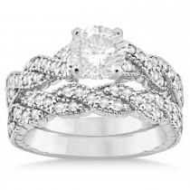Diamond Braided Bridal Set Platinum 0.44ct
