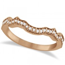 Contour Band Diamond Wedding Band 18k Rose Gold (0.15ct)