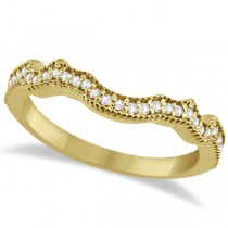 Contour Band Diamond Wedding Band 18k Yellow Gold (0.15ct)