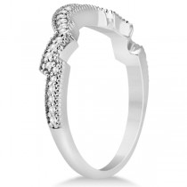 Contour Semi Eternity Diamond Wedding Band in 14k White Gold (0.17ct)