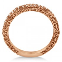 Milgrain & Filigree Diamond Wedding Band 14kt Rose Gold (0.20ct.)