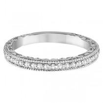 Square Halo Wedding Band & Diamond Engagement Ring Platinum (0.52ct.)