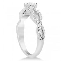 Diamond Twist Infinity Engagement Ring Setting 14K White Gold (0.40ct)|escape