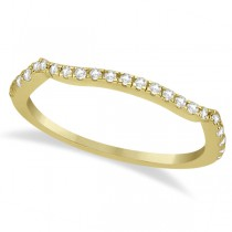 Contoured Semi-Eternity Diamond Band Setting 14K Yellow Gold (0.20ct)