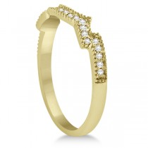 Butterfly Diamond & Ruby Bridal Set 18k Yellow Gold (0.39ct)