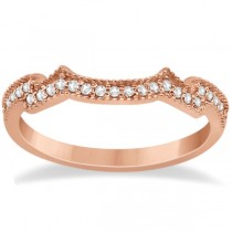 Milgrain Semi-Eternity Diamond Band Setting 14K Rose Gold (0.15ct)