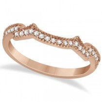 Milgrain Semi-Eternity Diamond Band Setting 18k Rose Gold (0.15ct)