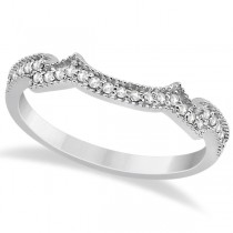 Milgrain Semi-Eternity Diamond Band Setting 18k White Gold (0.15ct)