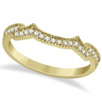Milgrain Semi-Eternity Diamond Band Setting 18k Yellow Gold (0.15ct)