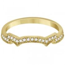 Milgrain Semi-Eternity Diamond Band Setting 18k Yellow Gold (0.15ct)