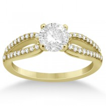 Cathedral Split Shank Diamond Engagement Ring 14K Yellow Gold (0.23ct)