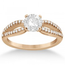Cathedral Split Shank Diamond Engagement Ring 18K Rose Gold (0.23ct)