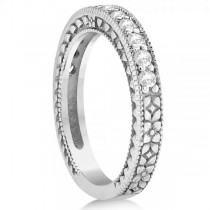 Diamond Semi Eternity Wedding Band 14k White Gold (0.36ct)