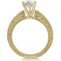 Vintage Heirloom Round Diamond Engagement Ring 18k Yellow Gold (2.50ct)