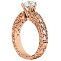 Vintage Heirloom Round Diamond Engagement Ring 14k Rose Gold (3.50ct)