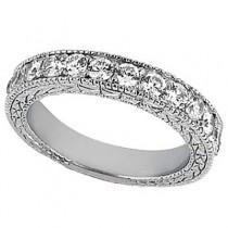 Antique Round Diamond Engagement Bridal Set Palladium (4.41ct)