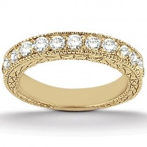Antique Round Diamond Engagement Bridal Set 18k Yellow Gold (1.91ct)