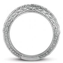 Antique Round Diamond Engagement Bridal Set Platinum (1.91ct)