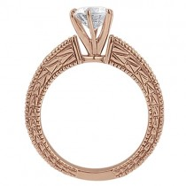 Antique Round Diamond Engagement Bridal Set 18k Rose Gold (2.41ct)