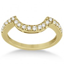 Halo Engagement Ring & Matching Wedding Band 18k Yellow Gold (0.55ct)