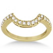Pave Curved Diamond Wedding Band 18k Yellow Gold (0.20ct)